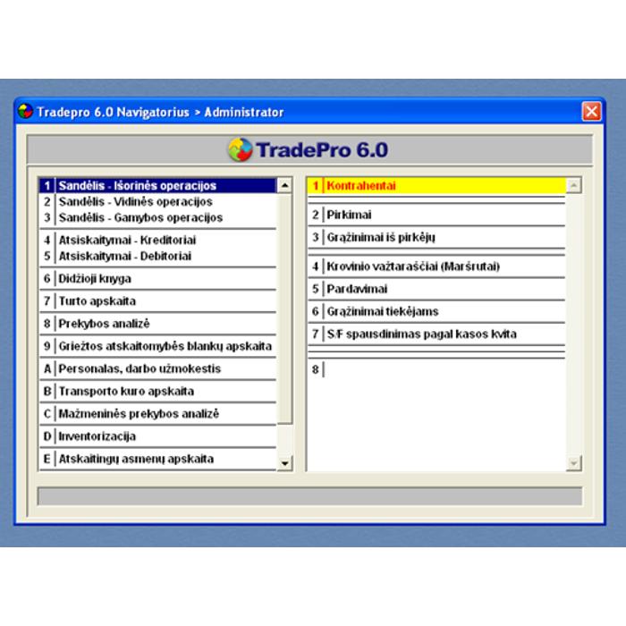 mažmeninės prekybos apskaitos sistema galiojimo laiko dvejetainiai variantai